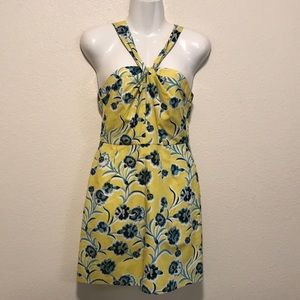 Top Shop Yellow Floral Sundress Size 4
